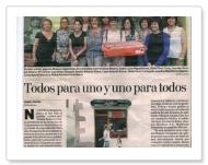 Contraportada del Diario de Navarra - 20 de julio de 2012
