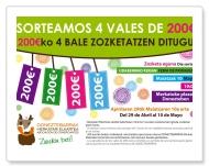 """Kartela """"200 euroko 4 bale zozketatzen ditugu"""""""